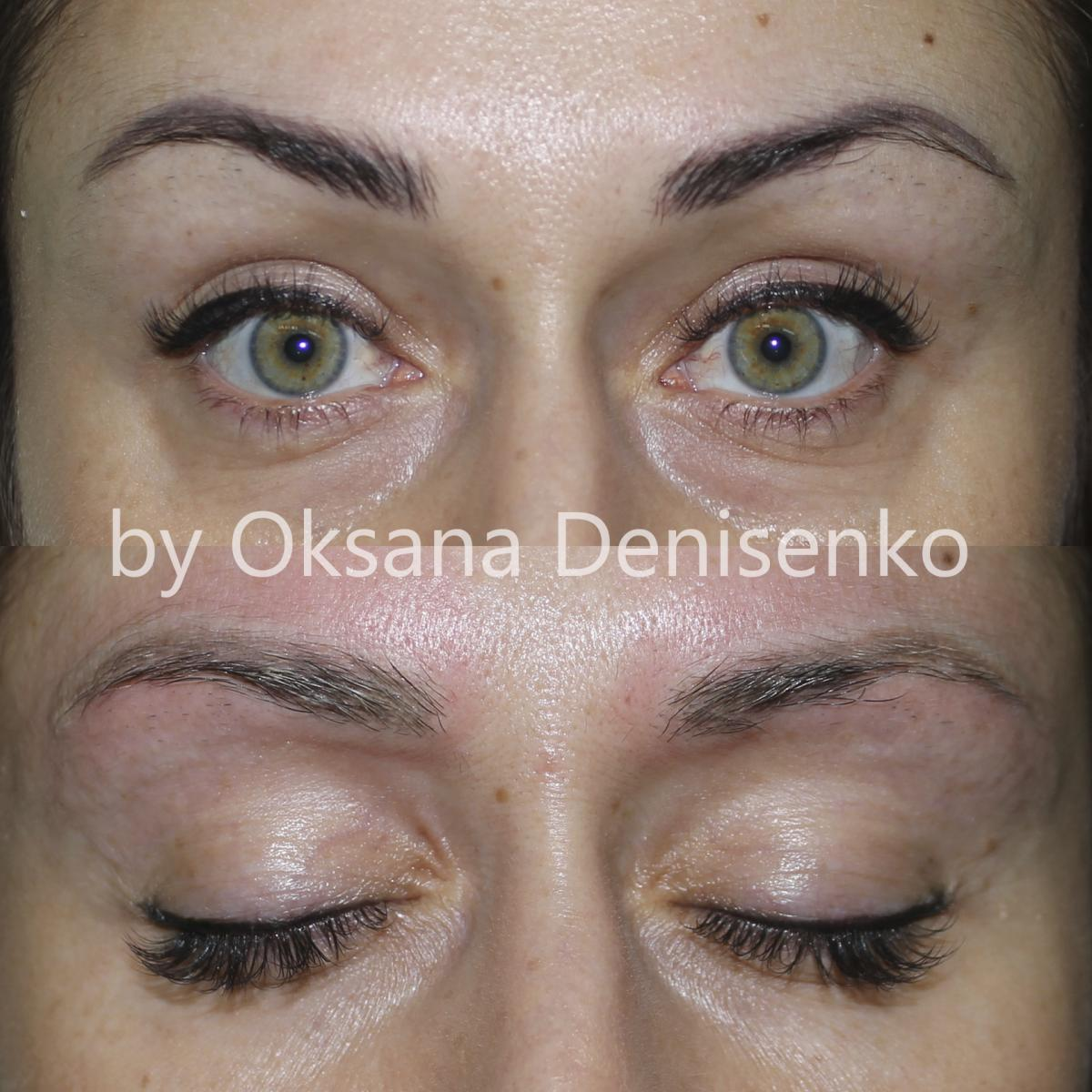 Перманентный макияж глаз фото до и после отзывы заживление