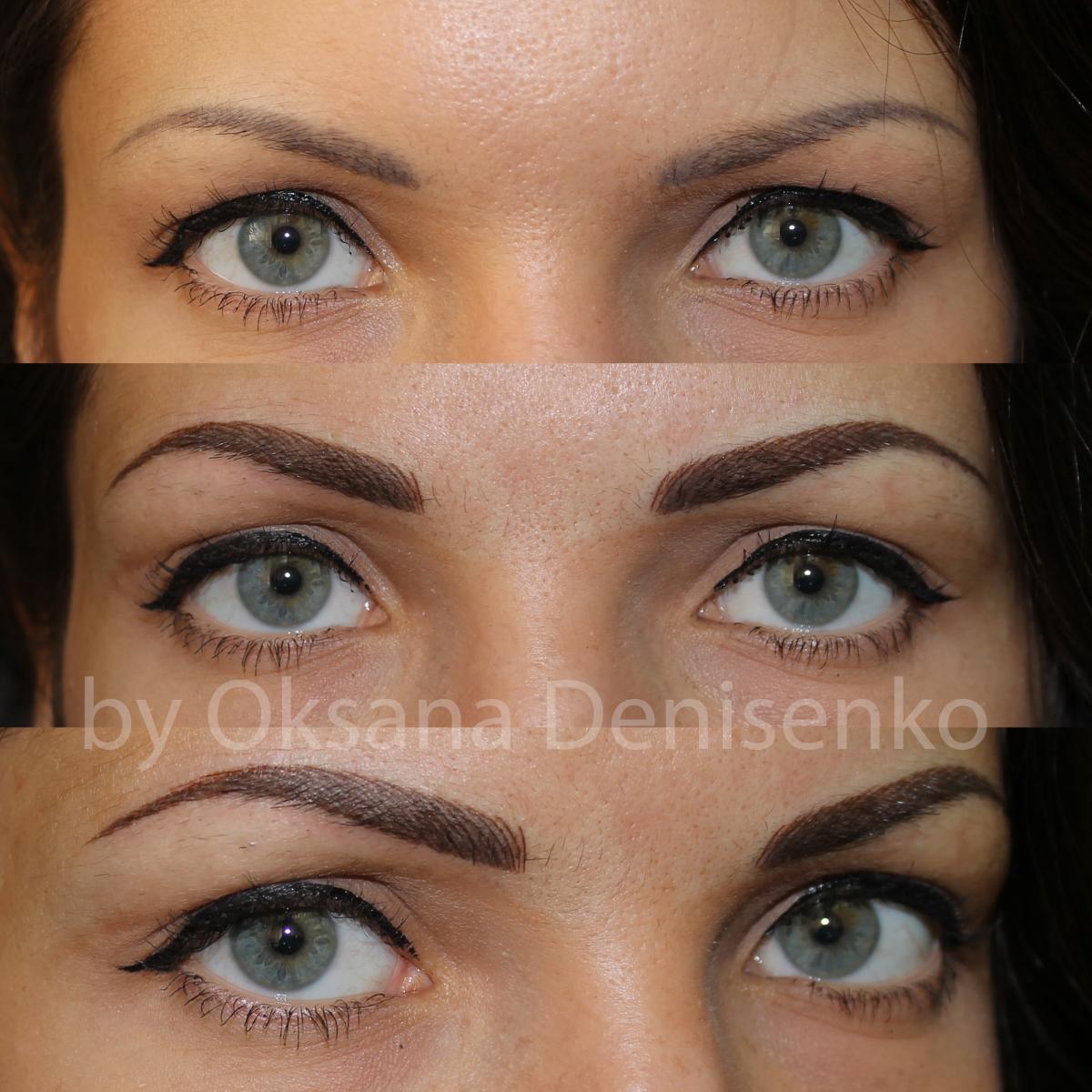 Татуаж бровей до и после : все виды перманентного макияжа бровей